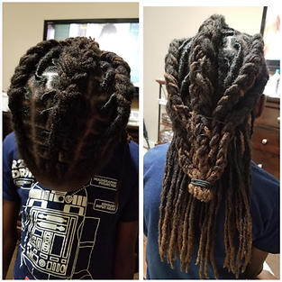 Now Darline's son locs! Hello Growth