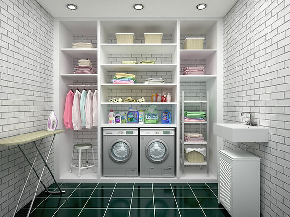 newport custom closets_laundry room cabinets