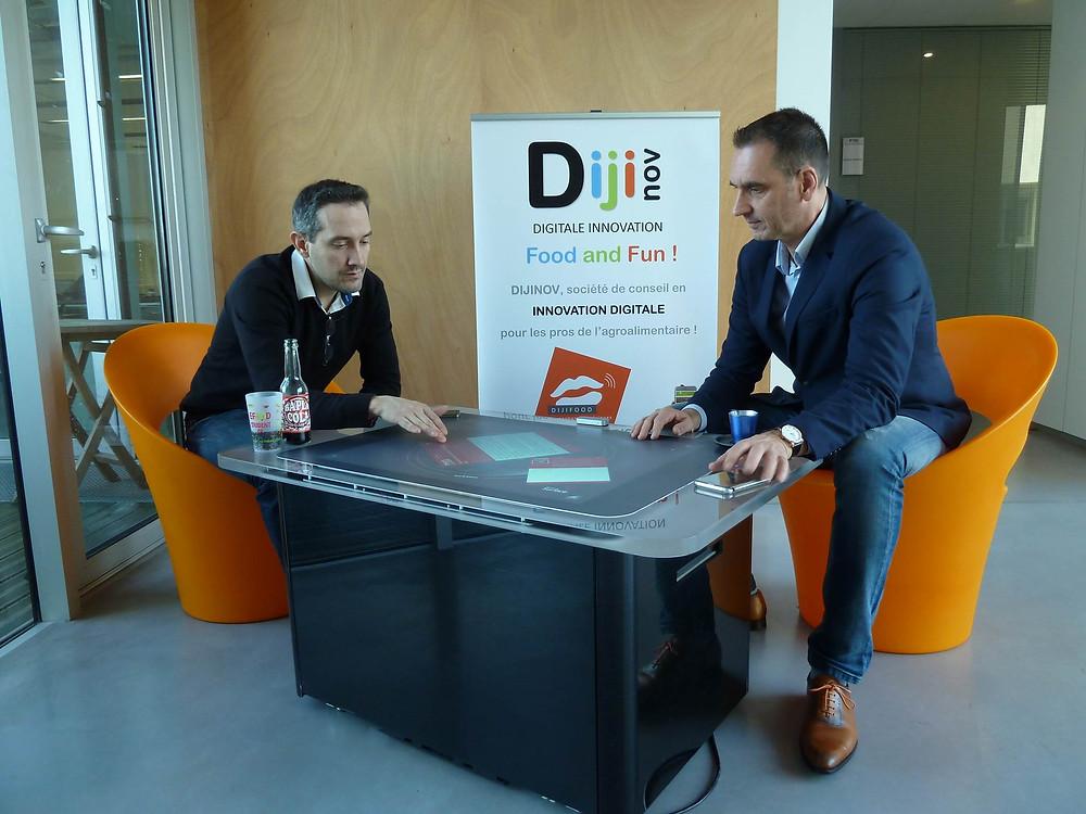 Etienne Sandeyront et Franck Depaillat, le duo Dijinov, veulent arrêter que l'on pense l'agro-numérique mais que tous les acteurs de l'agro-alimentaire le vivent pleinement grâce à leurs services innovants.
