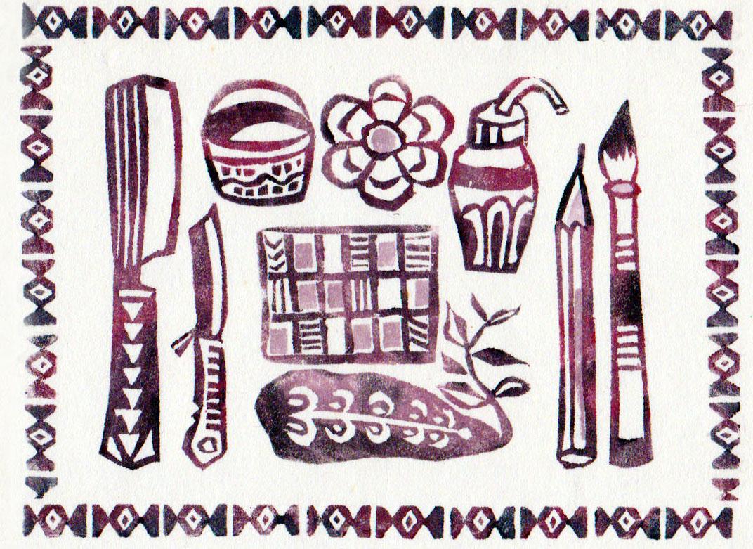 芋版の道具