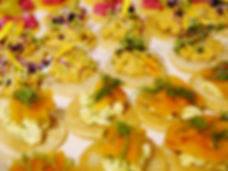 vegan canapes finger food catering