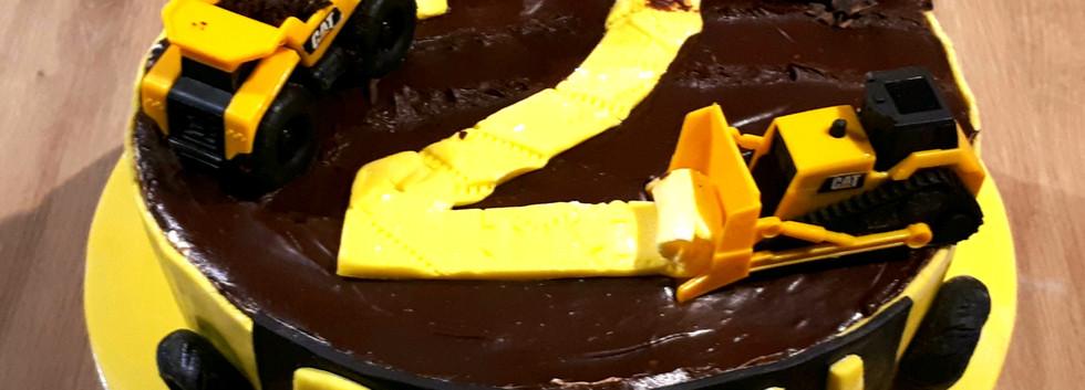 Building site chcocolate cake