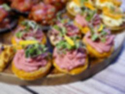 Vegan canapes platter