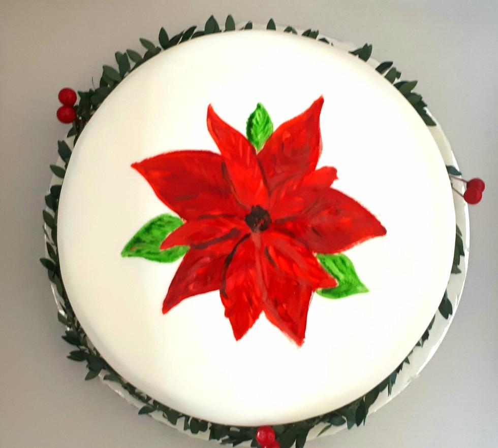 Caramelised apple and carrot Christmas cake