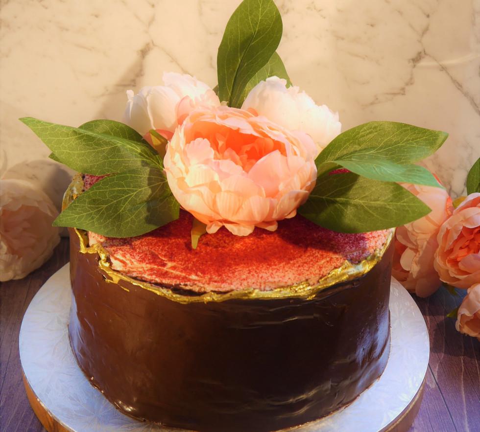 Orange ganache flower cake 2.jpg