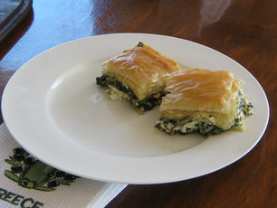 Cheese and spinach pie (Spanokopita)