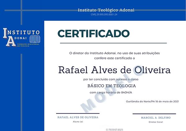Vermelho Azul Emblema Simples Diploma de