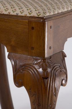 Chippendale Side Chair-Knee