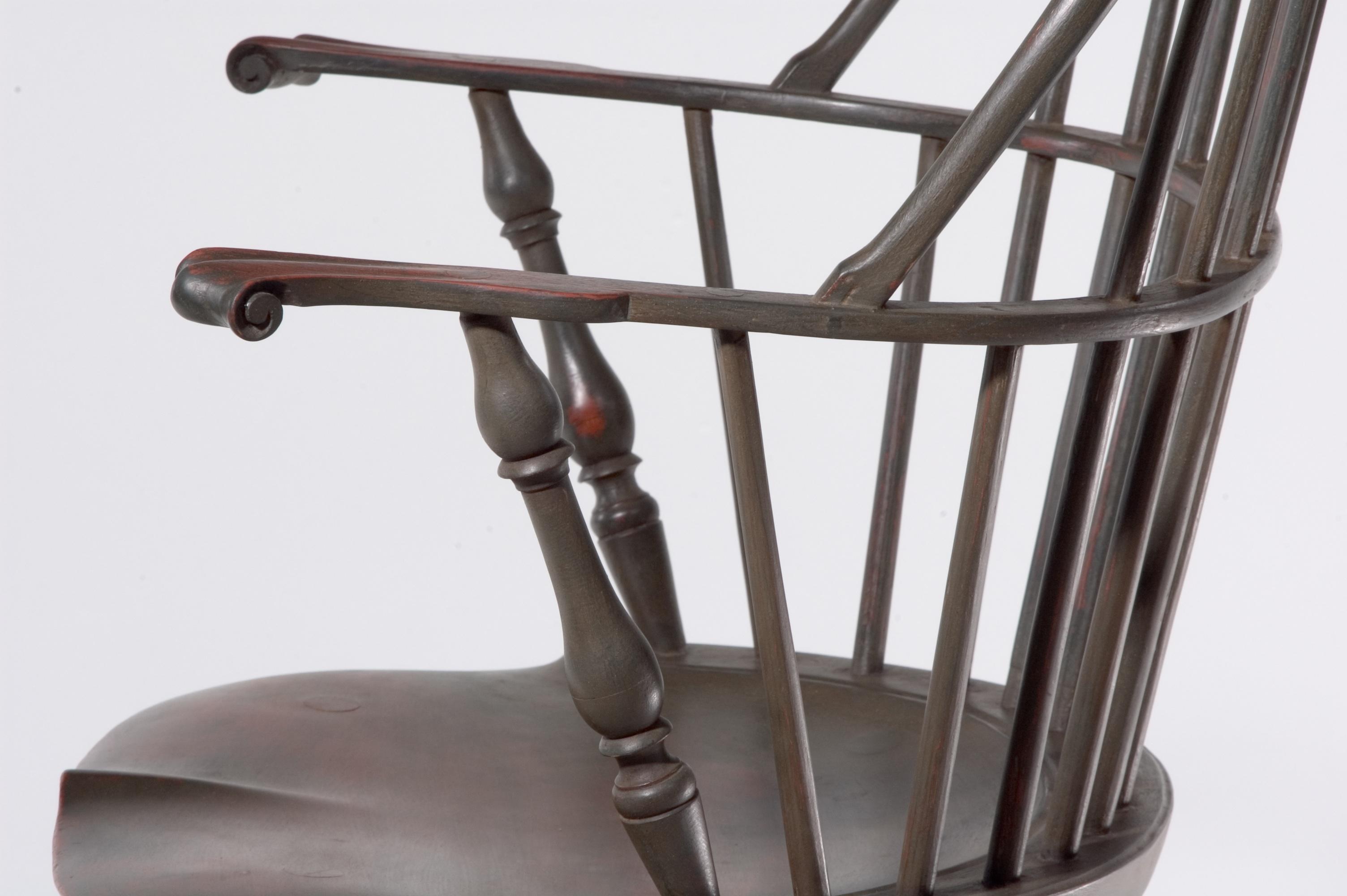 Windsor Bow Back Arm Chair-Arms