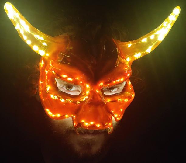Demon Mask (lights on)