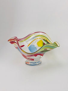 Bowl clear with colors