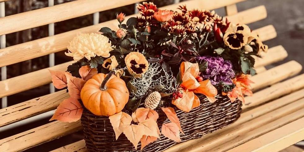 Podzimní barevný truhlík