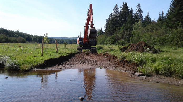 Creating a fording site