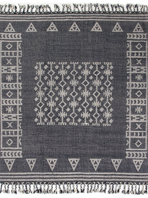 Navy Faded Tribal Rug