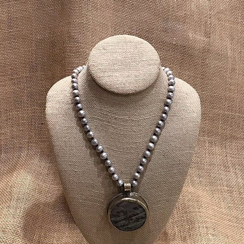 """30"""" Gray Freshwater Pearl with Pendant"""