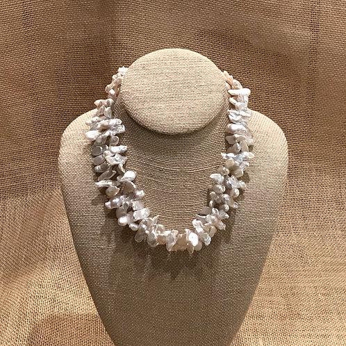 "17"" Double Strand Freshwater Pearls (Biwa)"