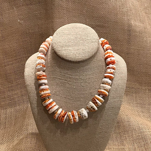 """19"""" Spiny Coral & Freshwater Pearl"""