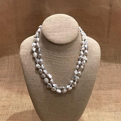"""18"""" Double Strand Freshwater Pearl"""