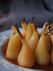 Poached Pears With Orange blossom + Rose