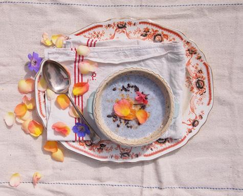 Rose Petal Chia Pudding