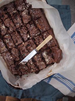 Gluten free Brownies with Cherries