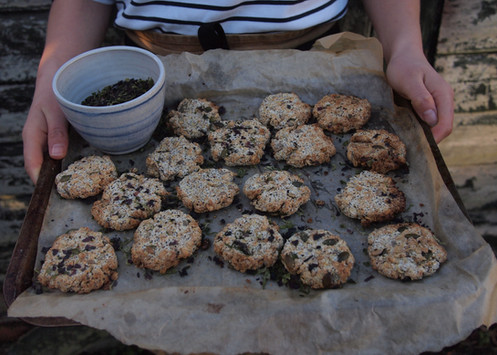 Oat + Cornish Seaweed Biscuits