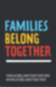 poster families belong together black background