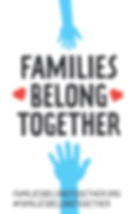poster families belong together white background