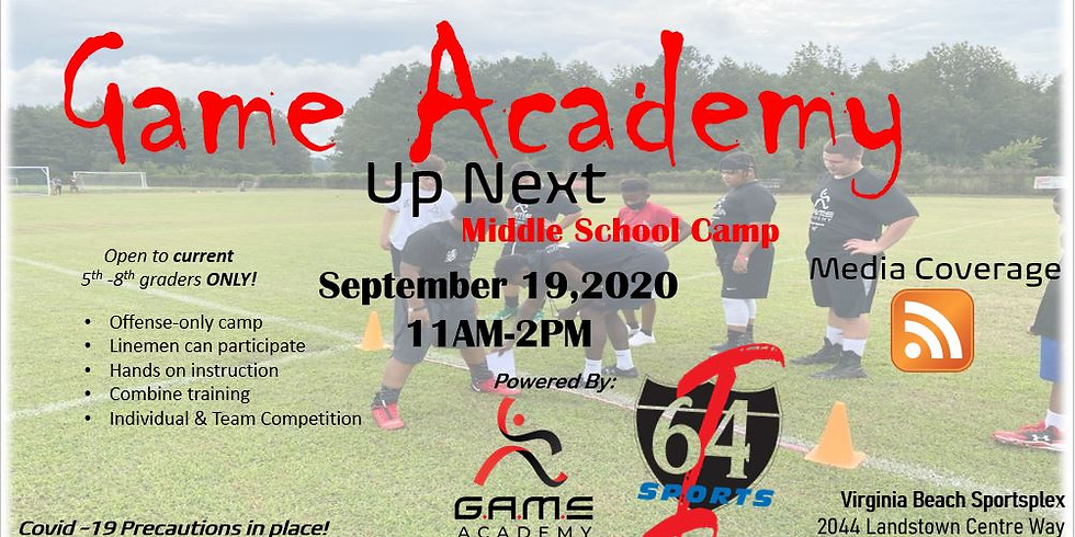 UP NEXT MIDDLE SCHOOL CAMP SERIES