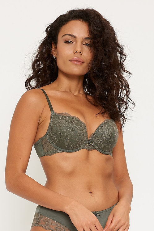 LingaDore Push-up BH Jungle Gel Bra Dusty Olive