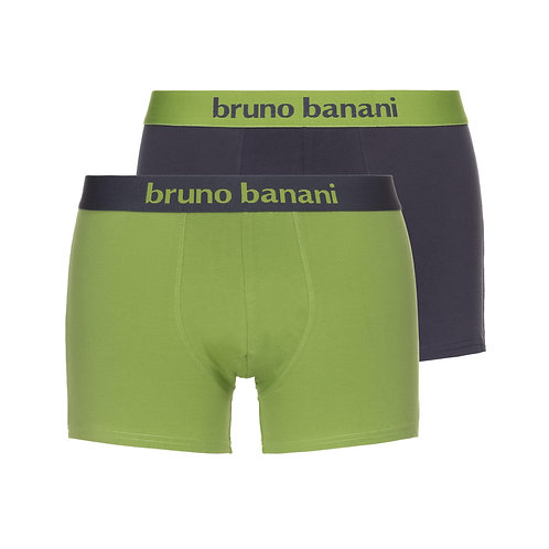 Bruno Banani Flowing - Short 2Pack schlamm/kiwi
