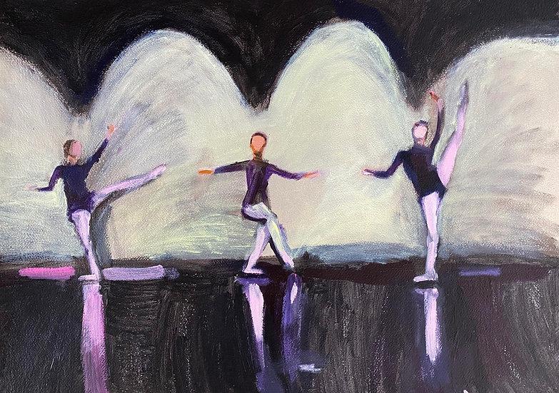 DANCING FIGURES ON STAGE II - David Paul