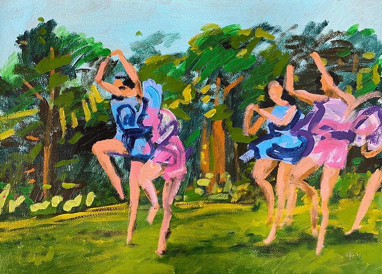 DANCING FIGURES IN A FIELD I - David Paul