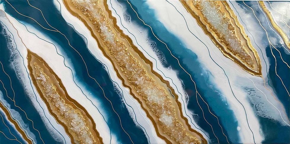 BLUE & GOLD GEODE - Sara Shepard