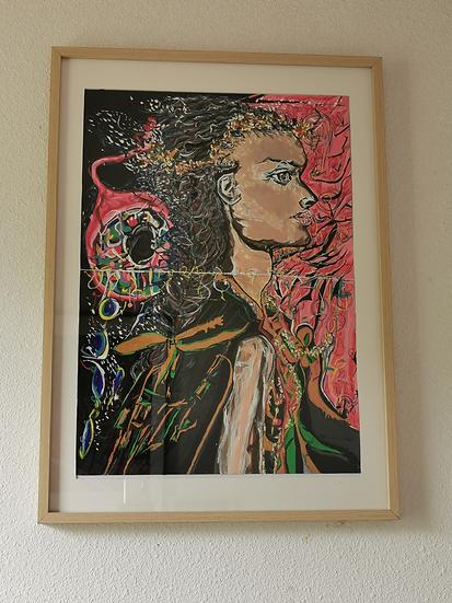 FEMME ETHIOPIENNE - Saba Coquillard art