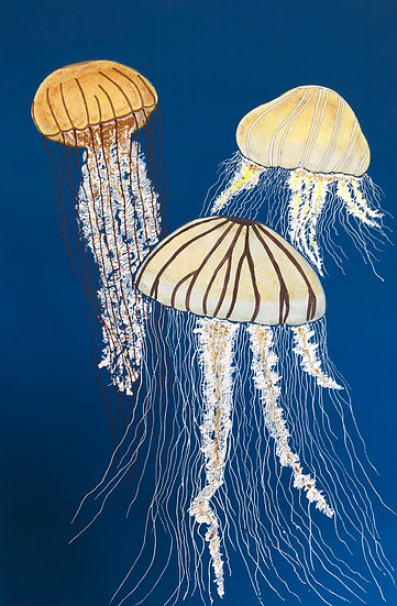JELLYFISH- YELLOW – LARGE - Nicolette Amos