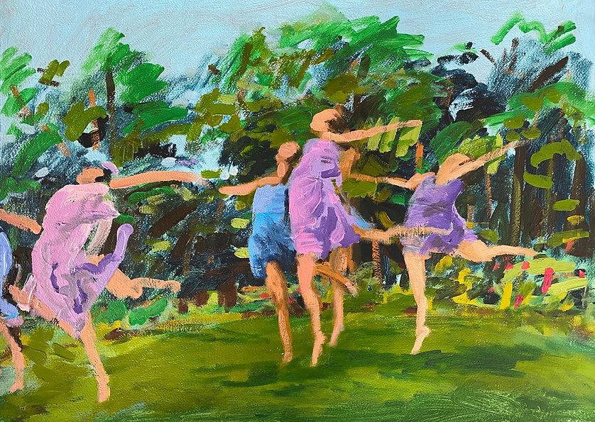 _Dancing Figures in a Field_, Number 3,