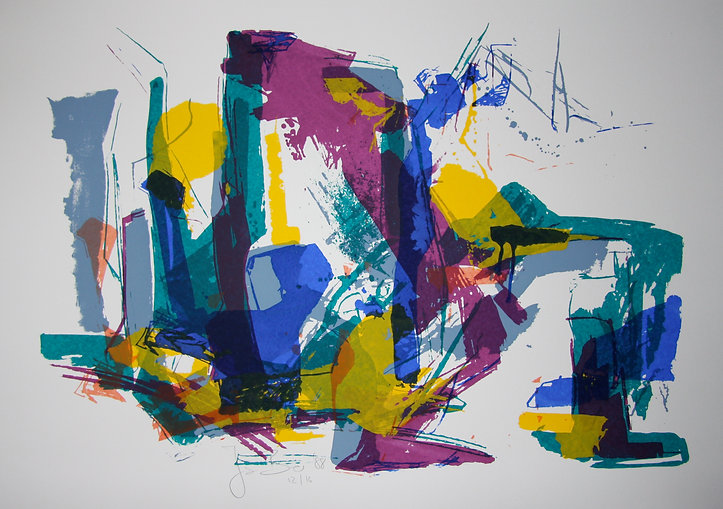 12._Abstract landscape 3_, Serigraphy, 1