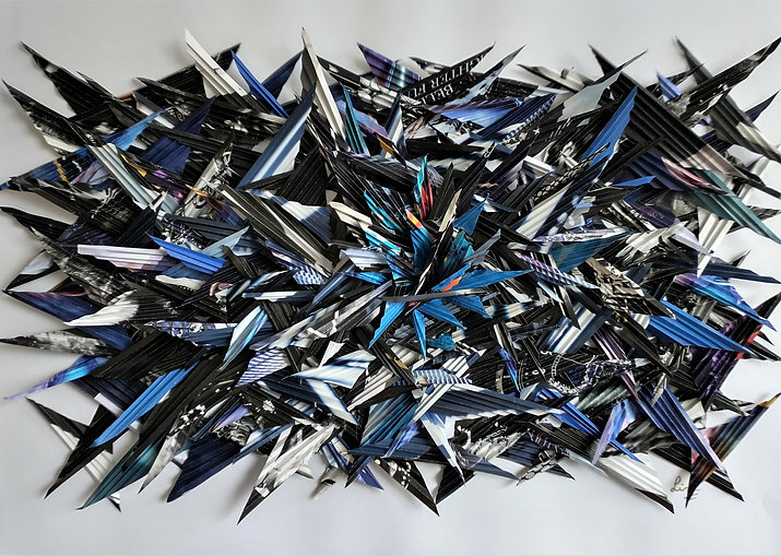 Lisa Harper  Bruised 50x70x5 Folded pape