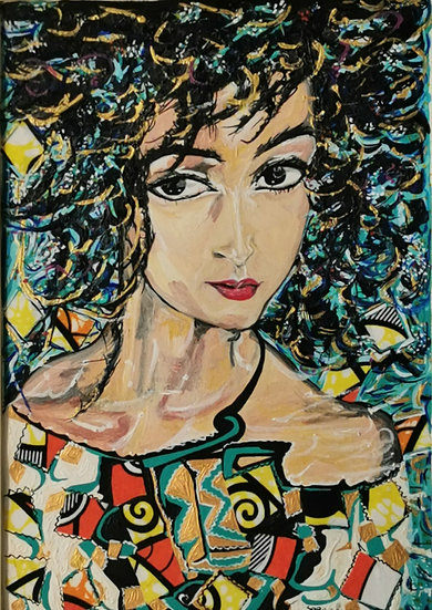 FEMME AUX FLEURS - Saba Coquillard art