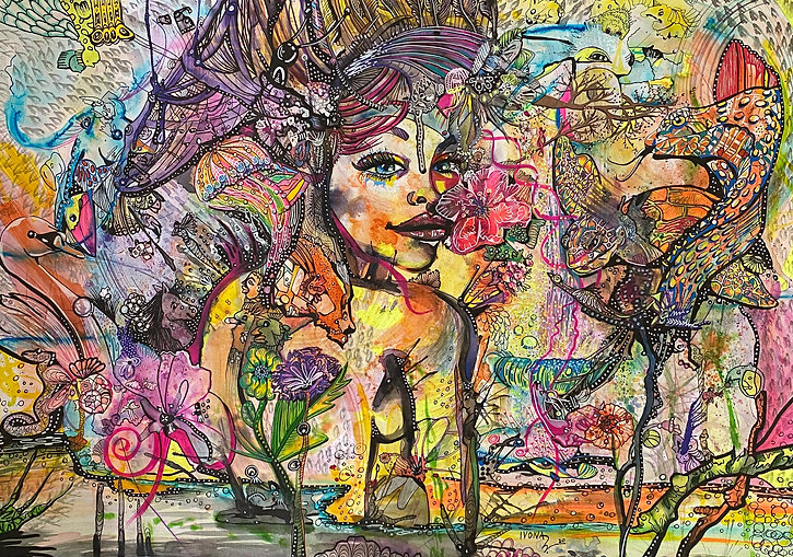 NATURE LOVER_2020 mixed media on paper D