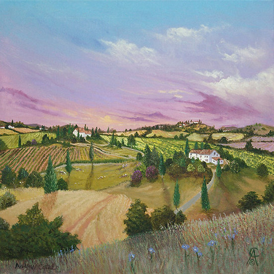 EARLY SPRING IN UMBRIA- Andrew Cottrell