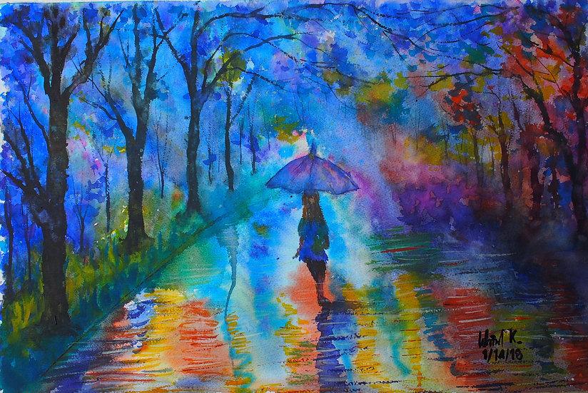 RAIN IN THE STARRY NIGHT - Wanida Kaewrak
