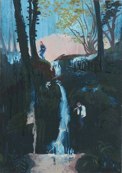 BLUE WATERFALL - Stephanie Fawbert
