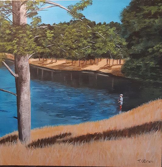 FISHING ON THE LAKE - Tammy O'Brien