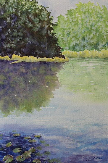 WATER LILIES #2 - Mary Estrem