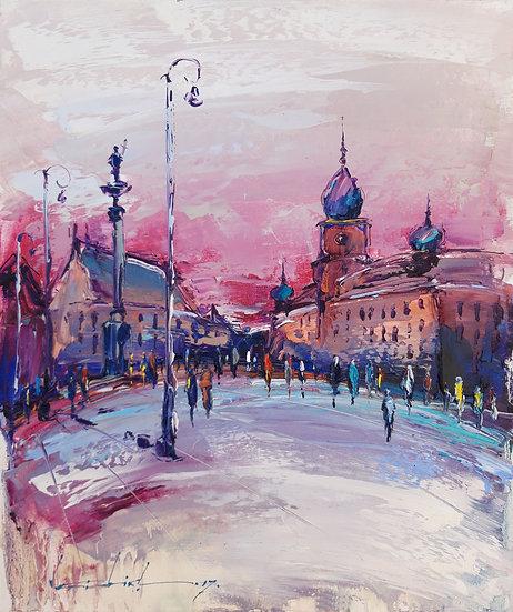CASTLE IN THE EVENING - WARSAW - Viktor Fridrikh