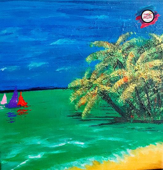 ABSTRACT TROPICAL BEACH -  Suchitra