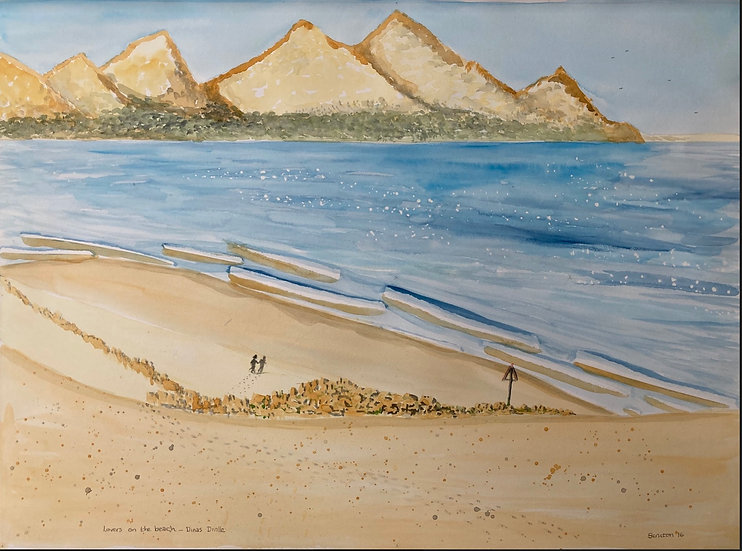 LOVERS ON THE BEACH, DINAS DINLLE- Tony Scruton