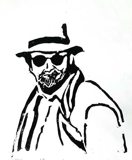 MAN IN PANAMA HAT - Ruth Egon